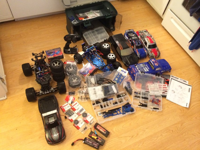 Traxxas stampede 4x4 & rustler vxl plus tons of extras ...